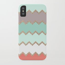 AVALON CORAL MINT iPhone Case