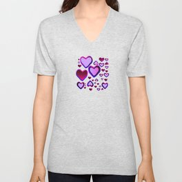Transparent Heart Unisex V-Neck