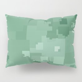 Grayed Jade Square Pixel Color Accent Pillow Sham