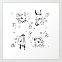 astrology Art Prints featuring astrology by AnnaToman