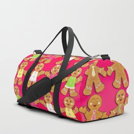 Gingerbread Men and Gingerbread Woman Cookies Duffle Bag