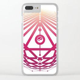 Radiant Abundance (white-sunrise) Clear iPhone Case