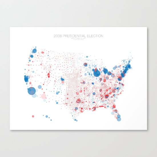 Election Mapping 2008 Canvas Print