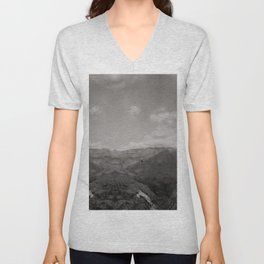 You will see me flying like a wild rain... (Vintage b/w) Unisex V-Neck