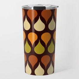 Brown retro 60s color drop pattern Travel Mug