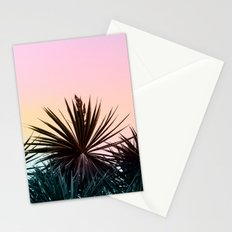 Sunset tropical palms Stationery Cards