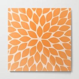 Sherbet Chrysanthemum Metal Print