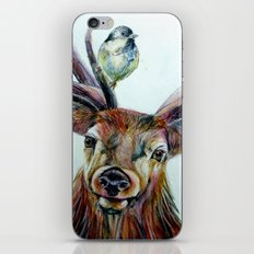 Stag and birds iPhone & iPod Skin