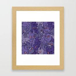 Gengar invasion! Framed Art Print