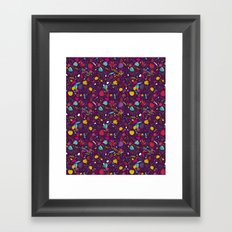 purple seeds Framed Art Print