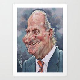 Caricature of Juan Carlos I de España Art Print