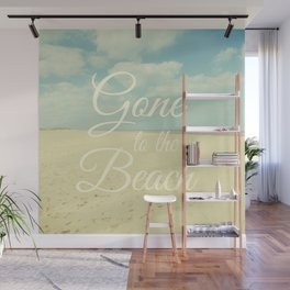 Gone To The Beach Wall Mural