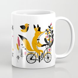 Fancy Mister Foxly Meets A Feathered Friend Coffee Mug