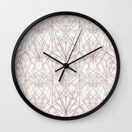 Art Deco Marble & Copper Wall Clock