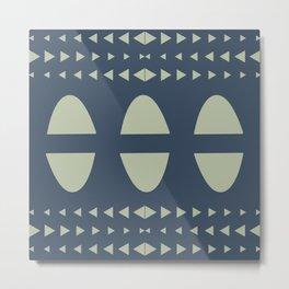 Arcs And Triangles Metal Print