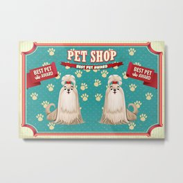 Retro Best Pet Award Metal Print