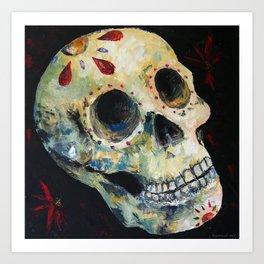 Palette Knife Sugar Skull Art Print