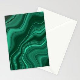 Liquid Malachite Dream #1 #gem #decor #art #society6 Stationery Cards