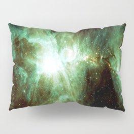 Galaxy : Orion Nebula Green Pillow Sham