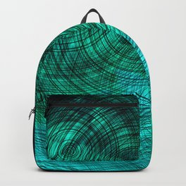 teal turquoise circles Backpack