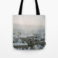 prague Tote Bags featuring Prague by BriAnneWills