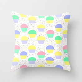 Cupcakes and Sprinkles Throw Pillow