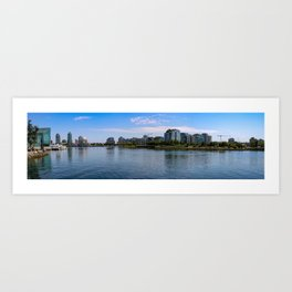Vancouver skyline in the daytime at waterfront Art Print