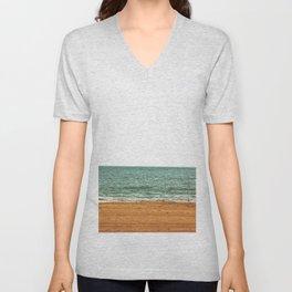 down by the sea - seaside - artprint Unisex V-Neck