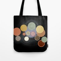 drums Tote Bags featuring drums by WilliamBee