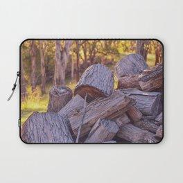 wood pile Laptop Sleeve