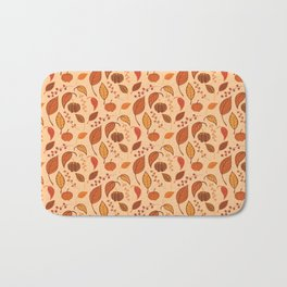 Leaves and pumpkins Bath Mat