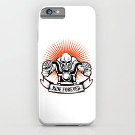 A Unique Detailed Riding Skeletal Tee For Yourself? Here's An Awesome T-shirt For You Ride Forever iPhone Case