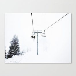 Mysterious Chairlift Canvas Print
