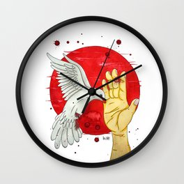 Pigeon of the peace Wall Clock