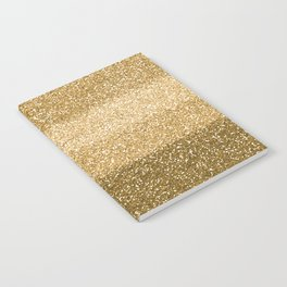 Glitter Glittery Copper Bronze Gold Notebook