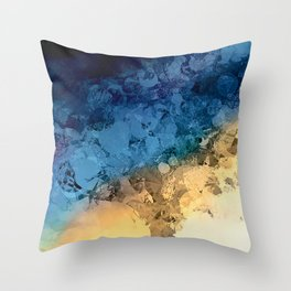 Stormy Skies Abstract Design Throw Pillow