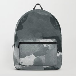 PPG Night Watch Pewter Green Splatters Watercolor Camo Pattern Backpack