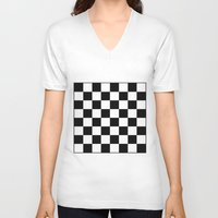 chess V-neck T-shirts featuring Chess by ArtSchool