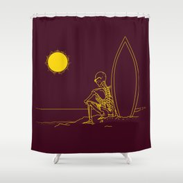 No waves, just waiting and relax (forever)... Shower Curtain