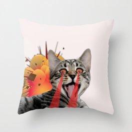 CAT ATTACK! Throw Pillow