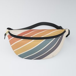 Arida -  70s Summer Style Retro Stripes Fanny Pack
