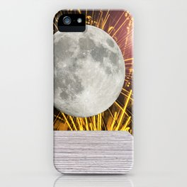 Sparkling behind the moon iPhone Case