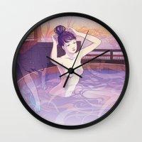 kitsune Wall Clocks featuring Kitsune by Katie Badenhorst