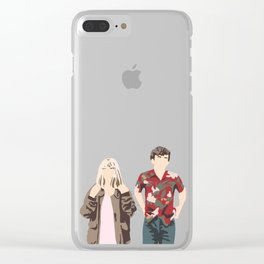 James and Alyssa Valentine Clear iPhone Case