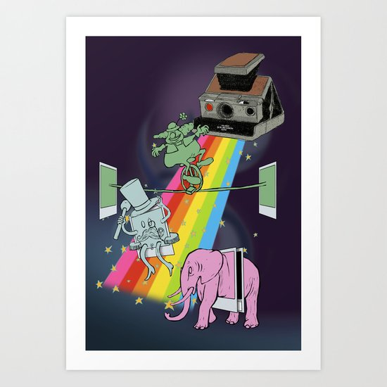 POLAROID SX70 CAMERA CIRCUS Art Print
