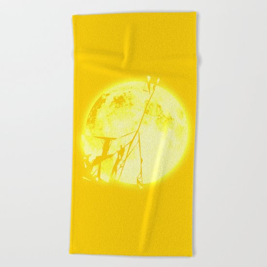 Broken Sun Beach Towel
