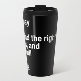 """Jack Kerouac Quote from """"On The Road"""": They Will Be Simple Travel Mug"""