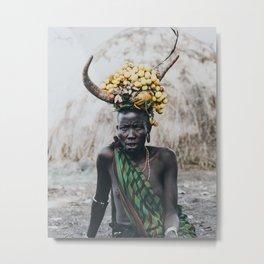 Mursi Tribe II Metal Print