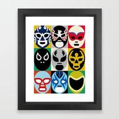 Lucha Libre 2 Framed Art Print