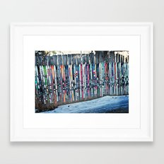 Skis Framed Art Print